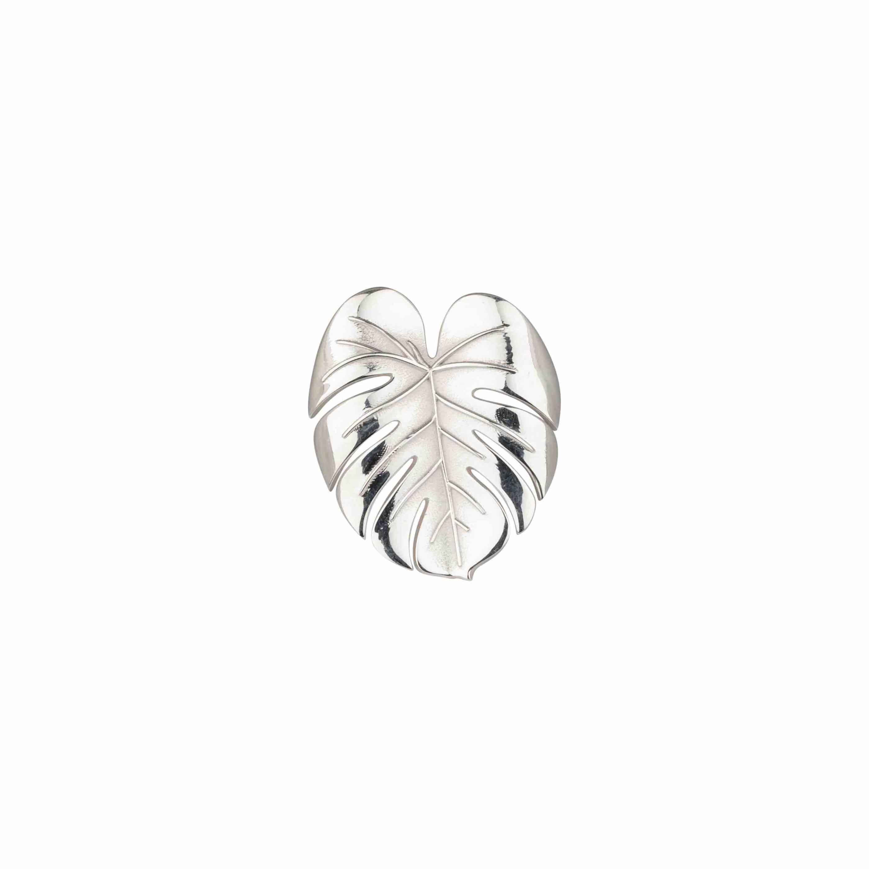 Palm Leaf ring silver