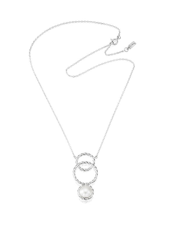 Twisted Orbit Necklace - Pearl 10-100-01534(1)