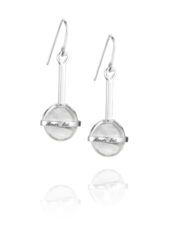 Amor Fati Globe Earrings Crystal quartz 12-100-001516(1) (1)
