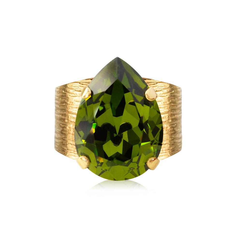 classic drop ring olivine