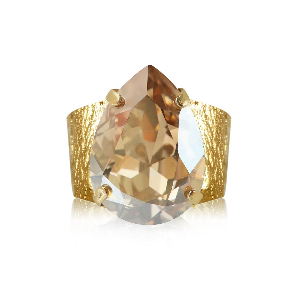 classic dropå ring golden shadow