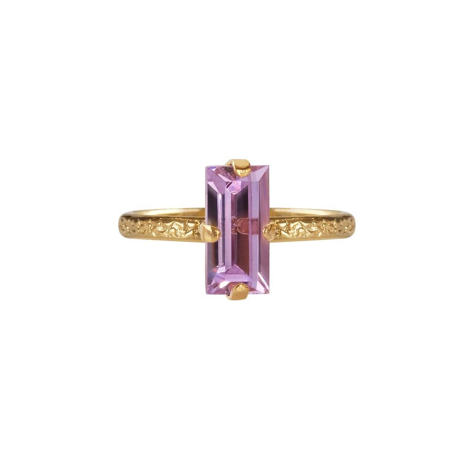 Baguette ring violet