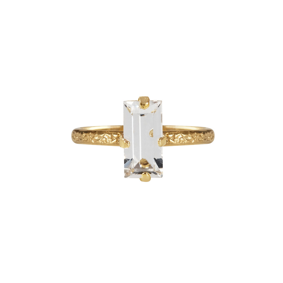 Baguette ring crystal