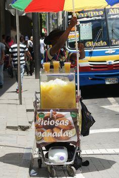 Färsk juice finns att köpa överallt