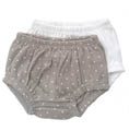 Bloomers 2-pack grå dotty