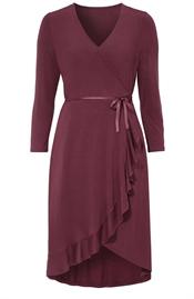 Remy dress, dark wine - L