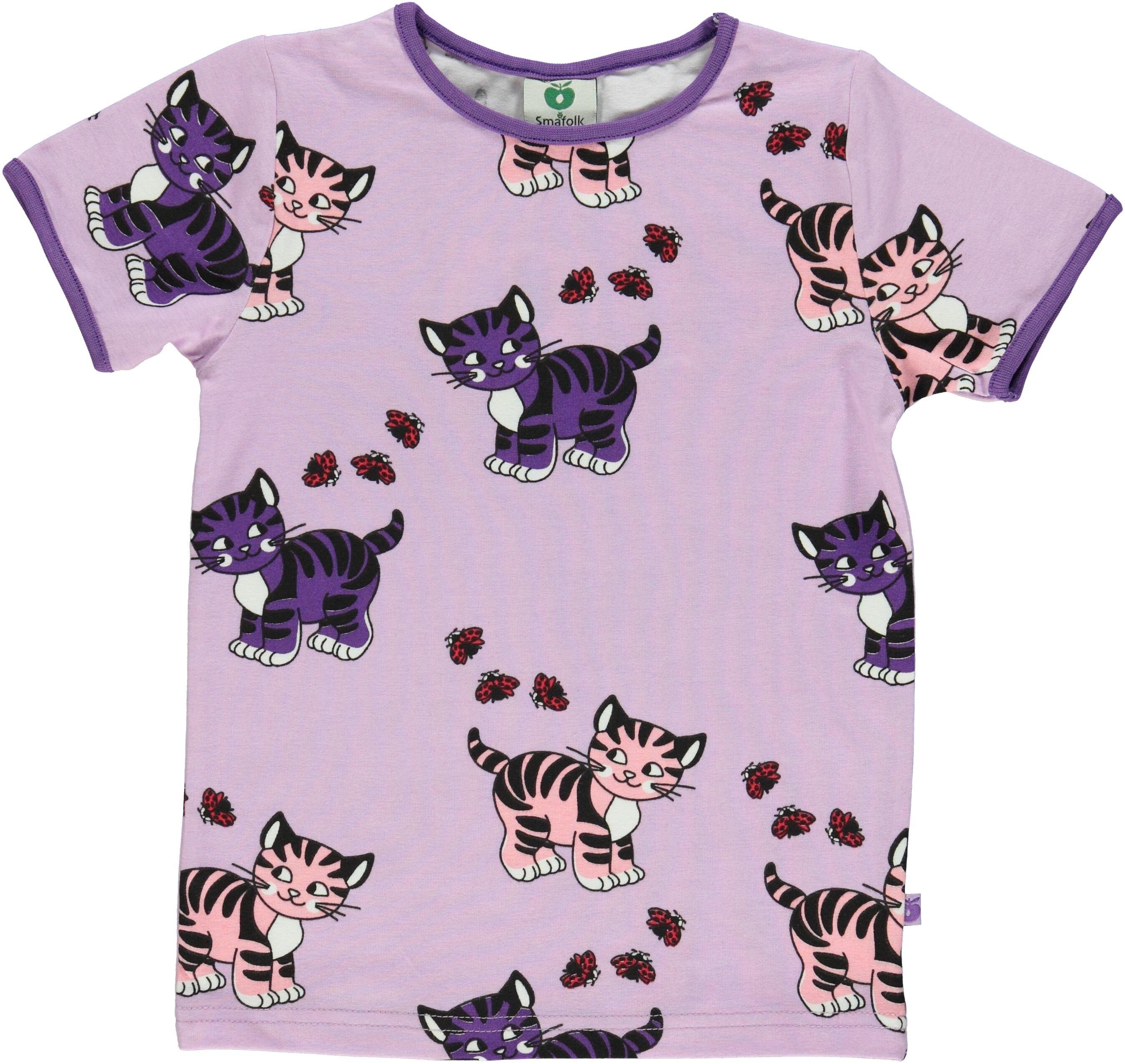 094b326e3da T-shirt katter lavendel   Tre söner