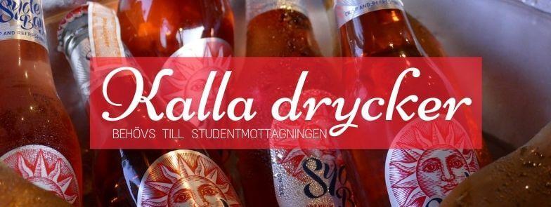 Kalla drycker till studentmottagningen