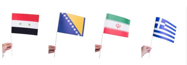 Pappersflaggor andra länder
