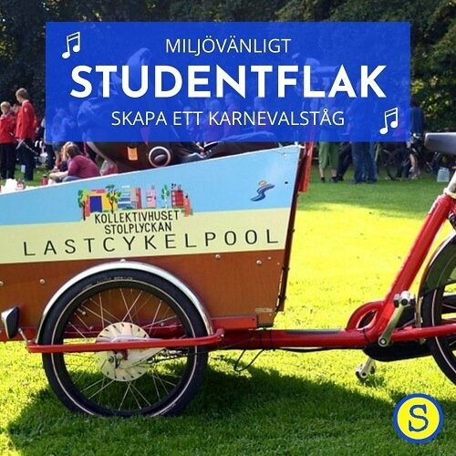 Lastcykel som studentflak