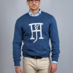 Round neck logo knit jumper - Hansen & Jacob