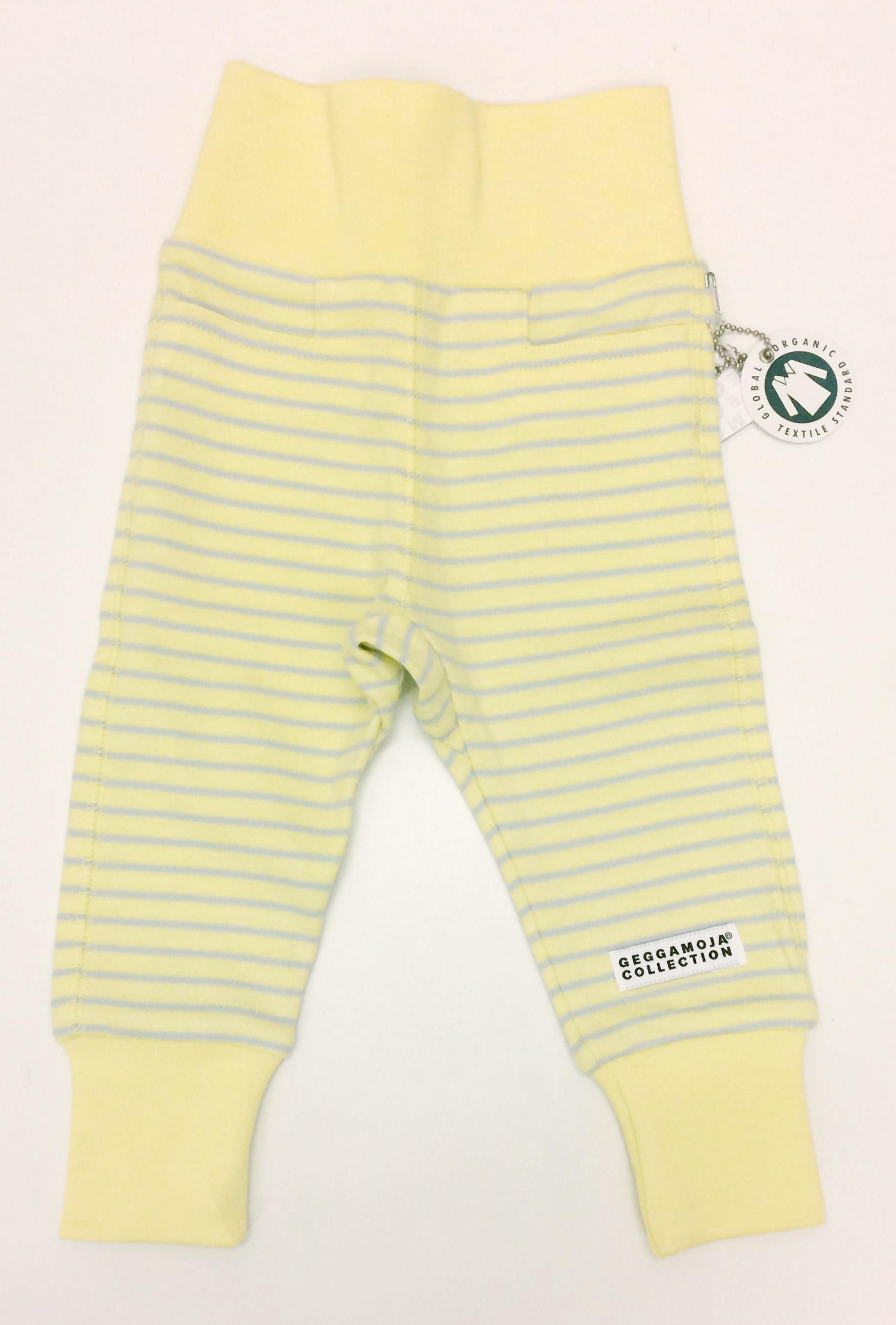 GM bebisbyxor ljusgul-grå