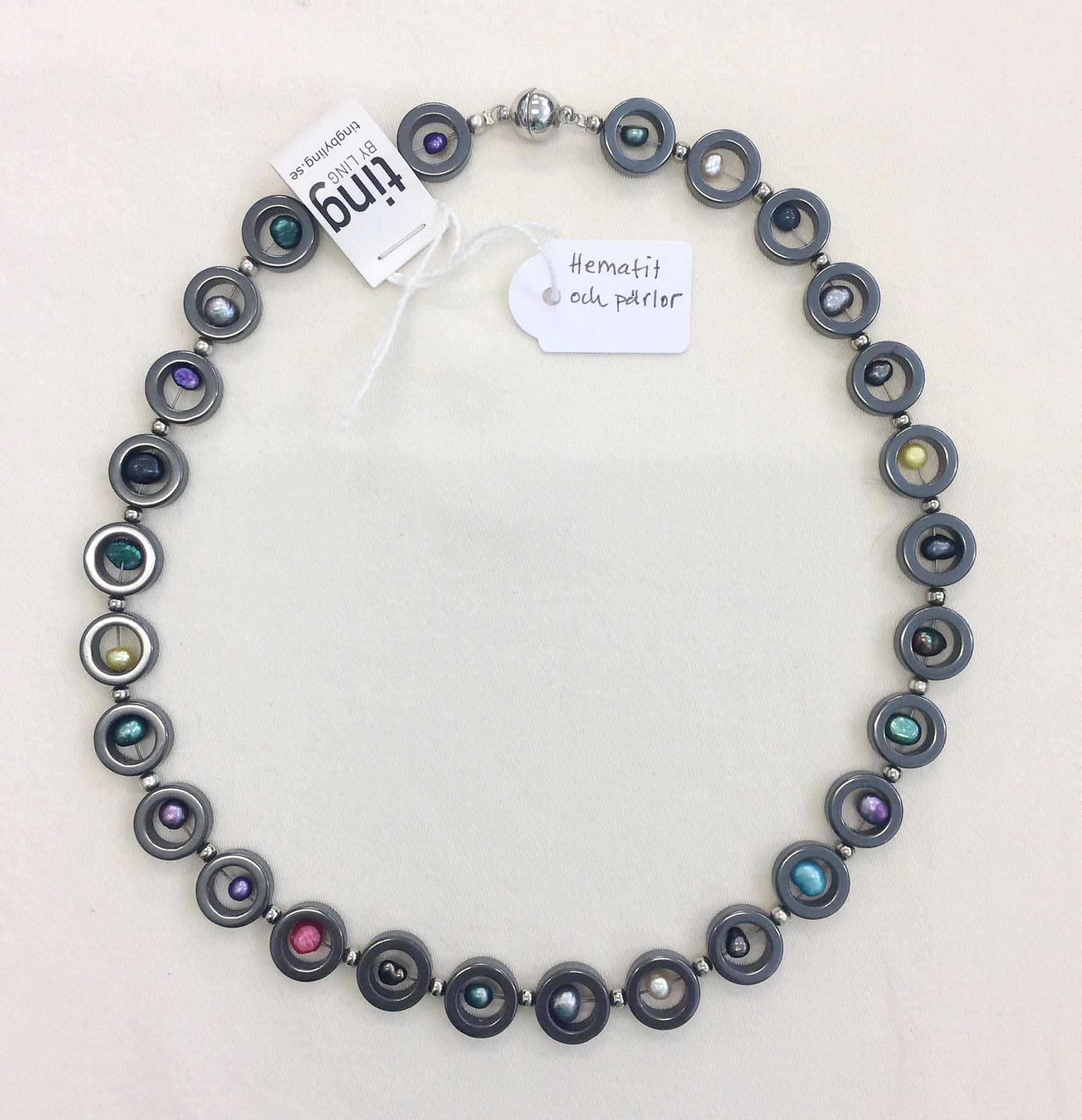 TL Halsband hematit pärlor