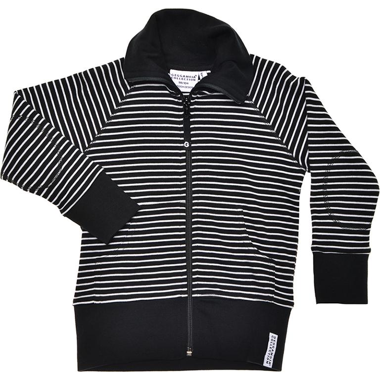 GM tröja med dragkedja svart-vit