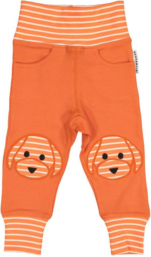GM bebisbyxor orange-beige med Doddi