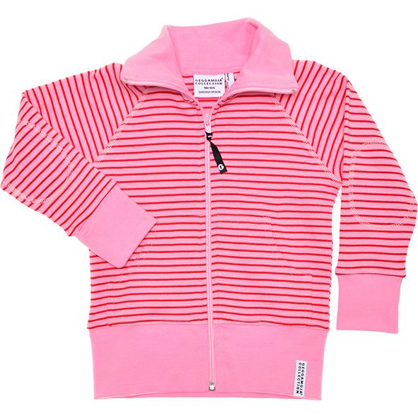 GM tröja med dragkedja rosaröd