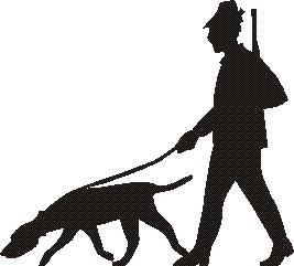 Jägare med hund -