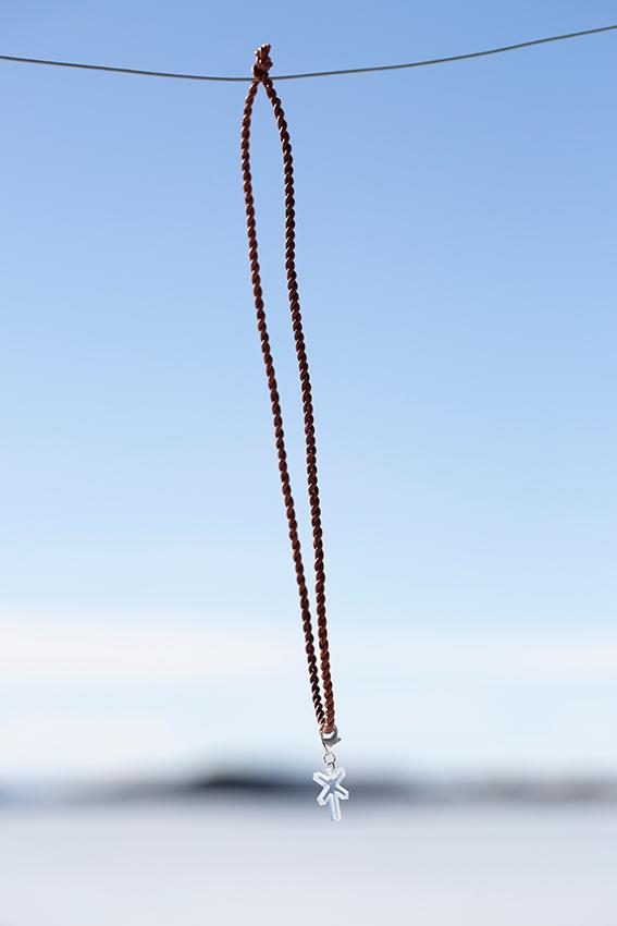 HalsbandBrunTransparentLedkryssSilverhjärta-2