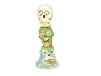 Zombie skull totem pole