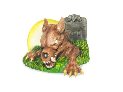 Zombie dog rising from grave