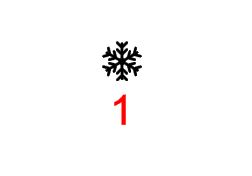 Symboler till julgranskulor - Snöflinga 1 guld