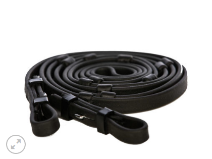 EQUES BIOTHANE reins with stoppers and buckle