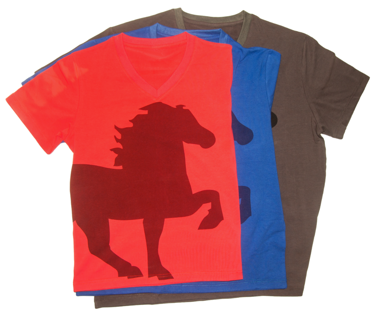 karlslund t-shirt with horse Vneck k546-all