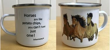 Mugg Horses are like potato chips