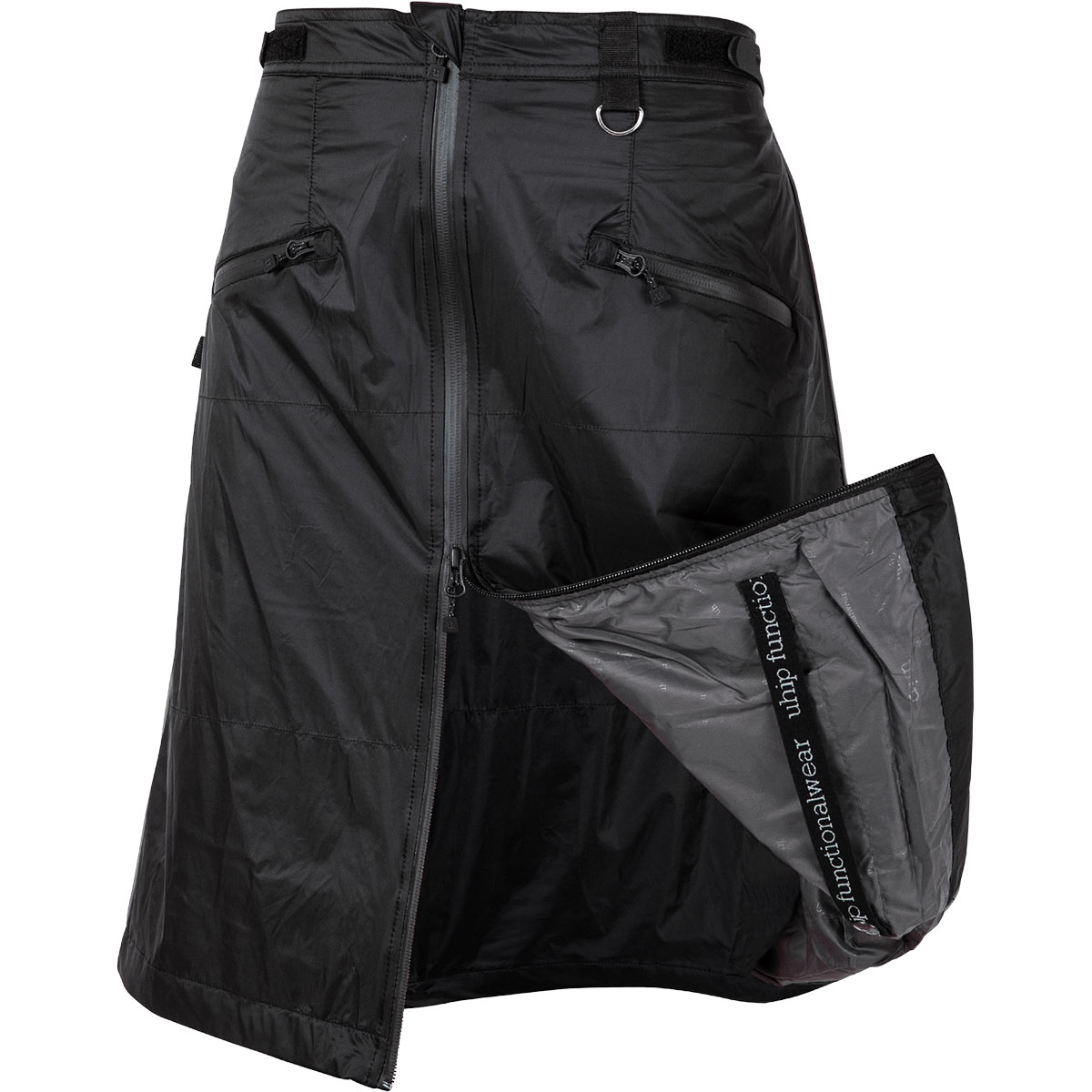 uhip_rain_wind_skirt_regular_sport_black_front