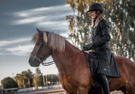 uhip skirt and jacket on icelandic horse rider