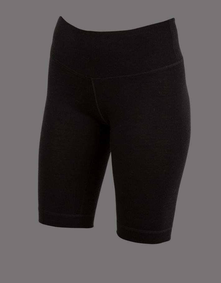 Uhip Merino wool half pant Black(1)