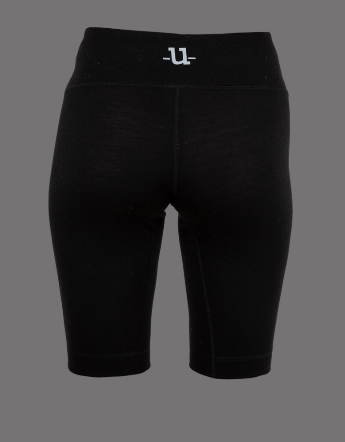 Uhip Merino wool half pant Black(2)