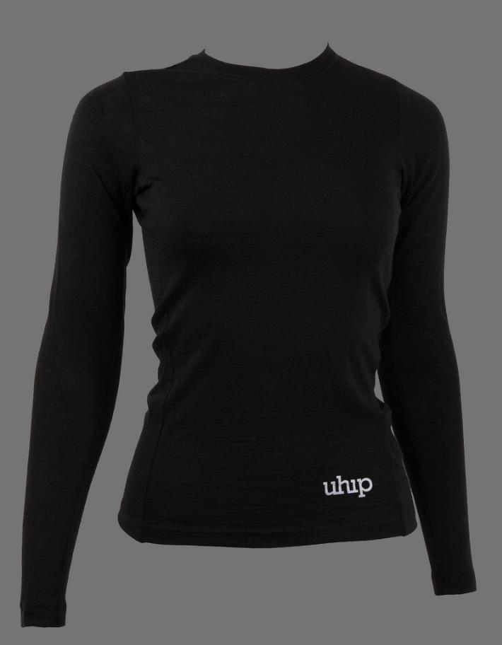 UHIP_Merino wool LS Top Black
