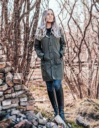 uhip midlength trench coat urban green picture on rider