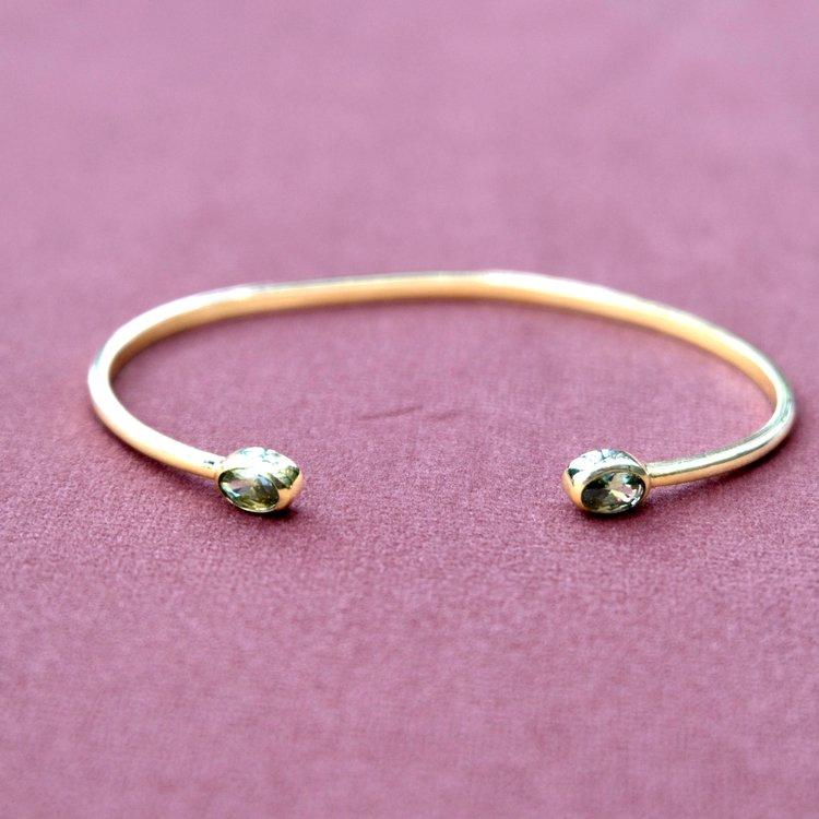Feluca olive stone gold cuff