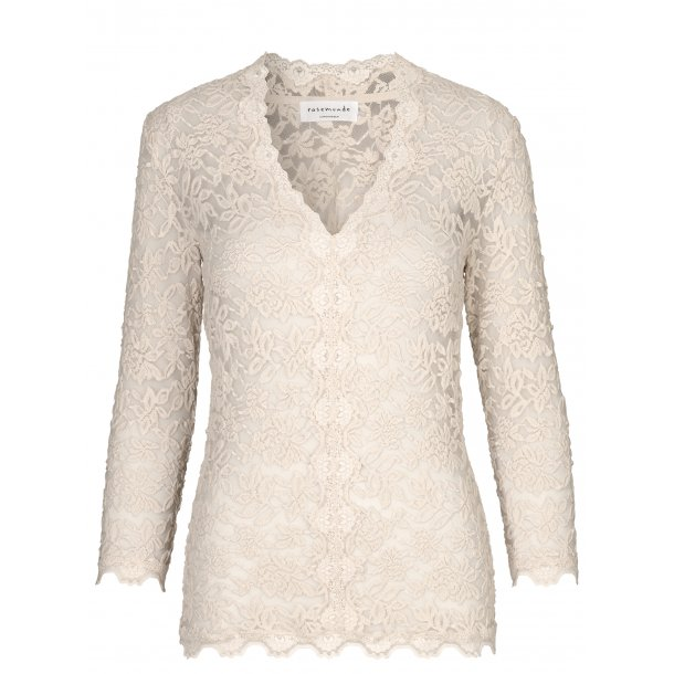 Full lace blouse - beige