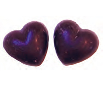 Chokladhjärtan mint