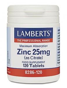 ZINK 25 mg (som zinkcitrat) (120 tabletter)