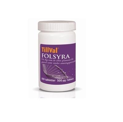 TillVal Folsyra 100 tabletter - KORT DATUM - Tillval Folsyra - kort datum