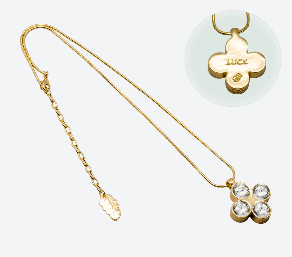 Halsband The Four Clover Amulet 45 IMAGE BY ME MILJÖ W171113-45 G WH