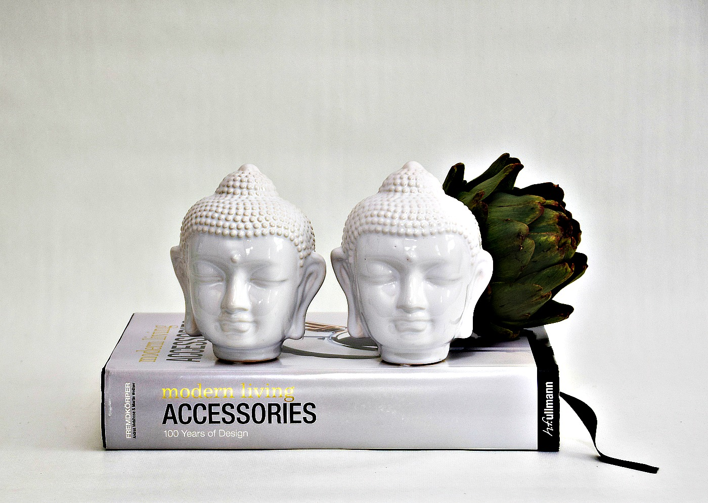 Buddha huvud vit