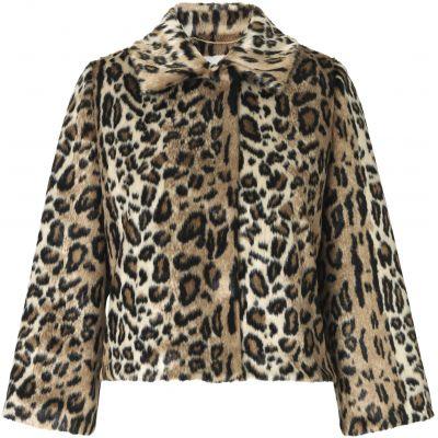 Faux Fur Jacket LEO PRINT IMAGE BY ME