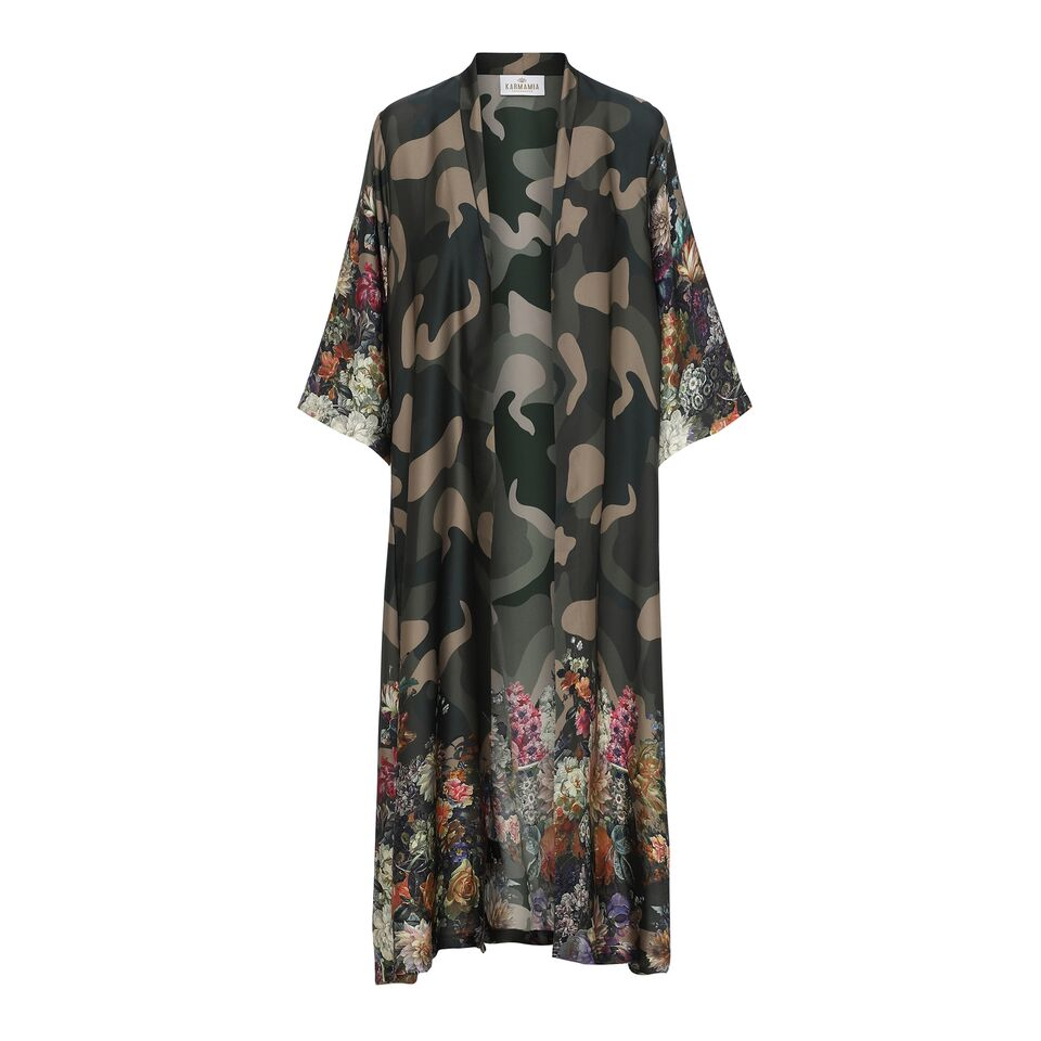 Flower Camouflage Kimono LONG KARMAMIA IMAGE BY ME