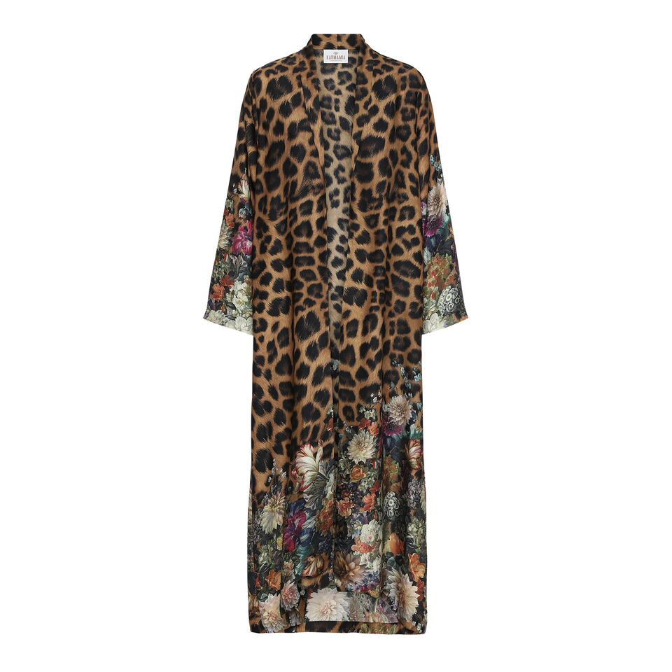 Flower Leopard Kimono LONG KARMAMIA IMAGE BY ME