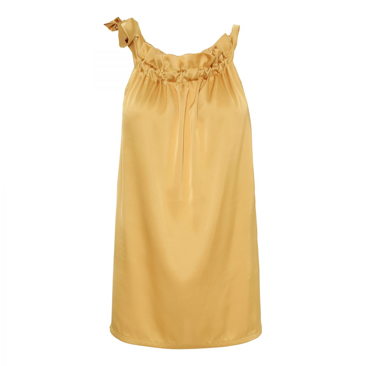 Golden-Yellow-Ruffle-Tie-Top- image by me karmamia