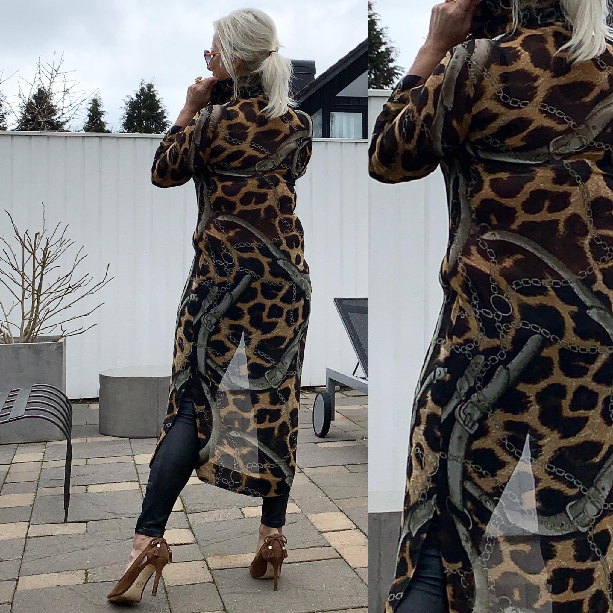 Leopard Chain Ruffle Kimono KARMAMIA IMAGE BY ME
