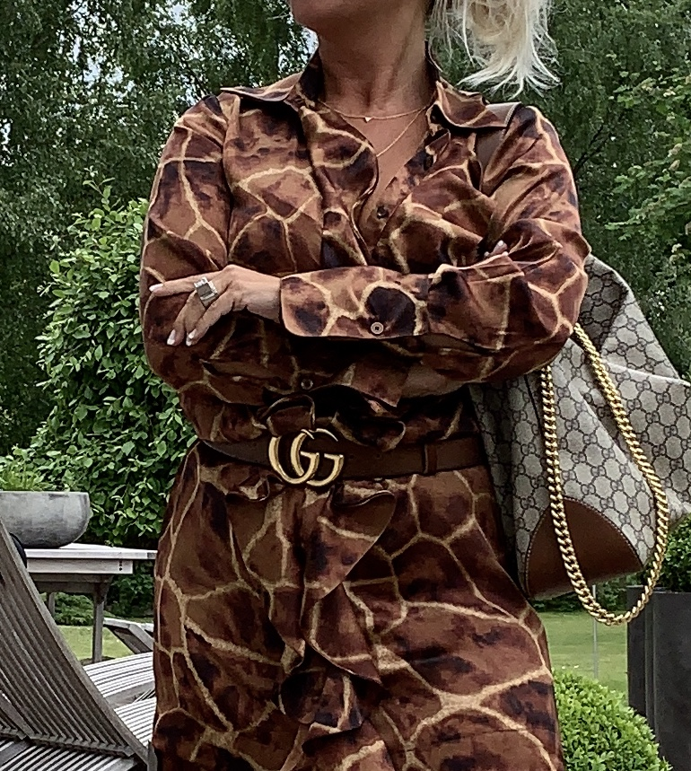Karmamia IMAGE BY ME Giraffe Ruffle Kimono