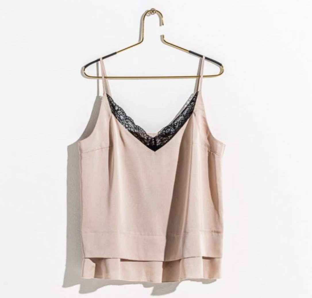 DAILY ELEGANCE Colline Top Nude/Black