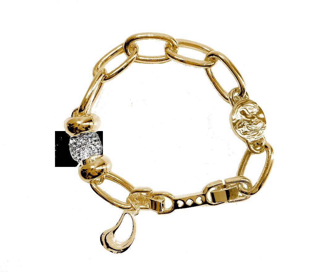 IOAKU-bracelet-chain-goddess-seed-gold-sparkle