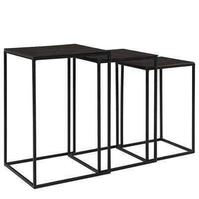 NOVA Side table BLACK ARTWOOD IMAGE BY ME